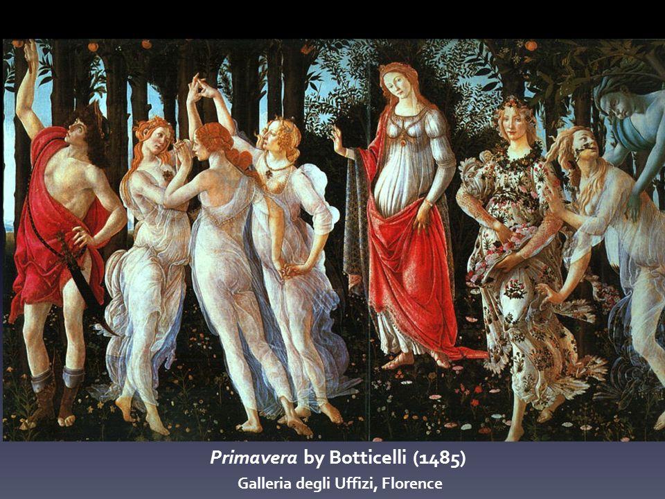 Primavera by Botticelli (1485) Galleria degli Uffizi, Florence