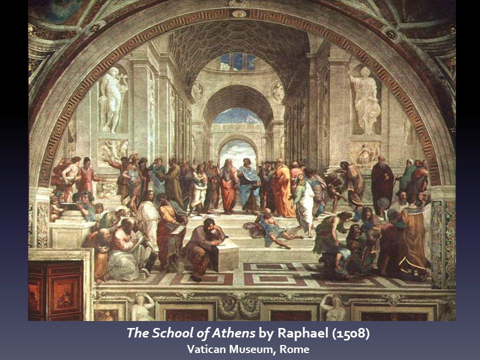 The School of Athens by Raphael (1508) Vatican Museum, Rome