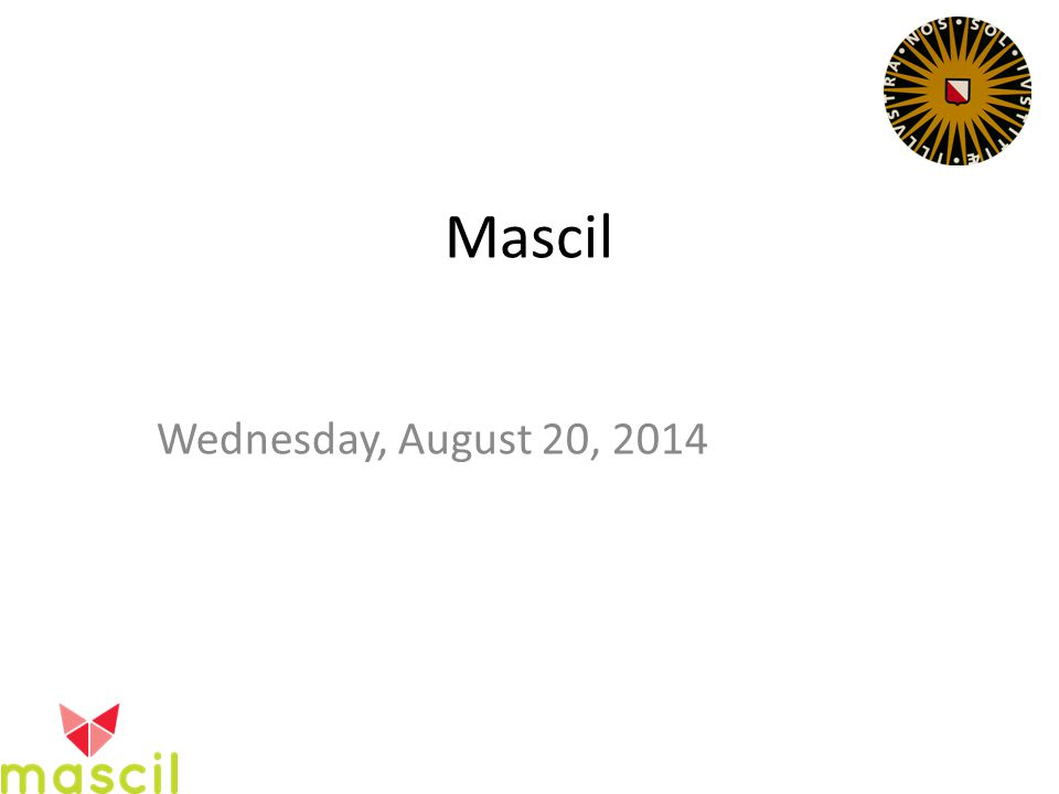 Mascil Wednesday, August 20, 2014