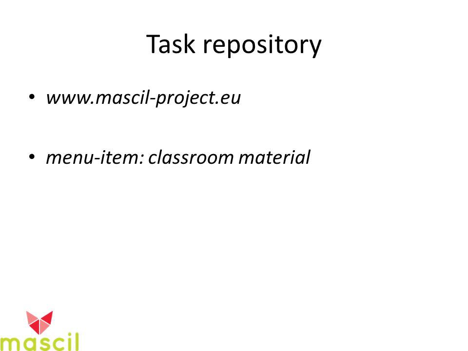 Task repository www.mascil-project.eu menu-item: classroom material
