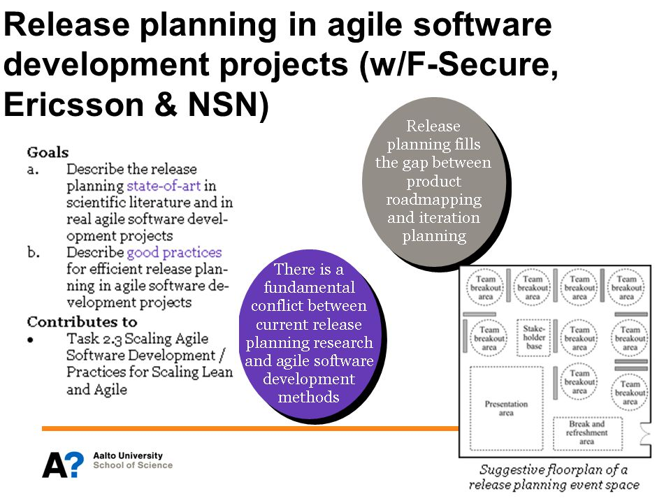 Release planning in agile software development projects (w/F-Secure, Ericsson & NSN)