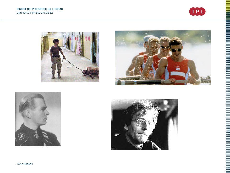 Institut for Produktion og Ledelse Danmarks Tekniske Universitet John Heebøll