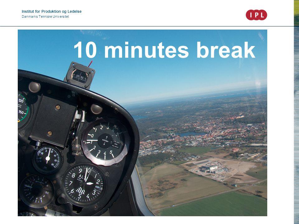 Institut for Produktion og Ledelse Danmarks Tekniske Universitet John Heebøll 10 minutes break