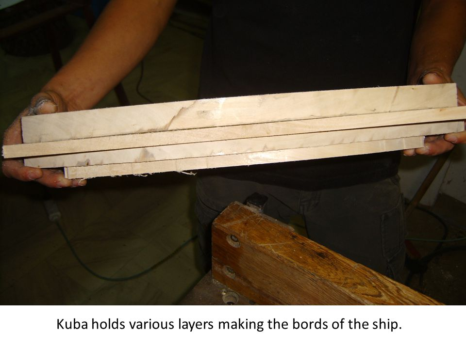 Kuba holds various layers making the bords of the ship.