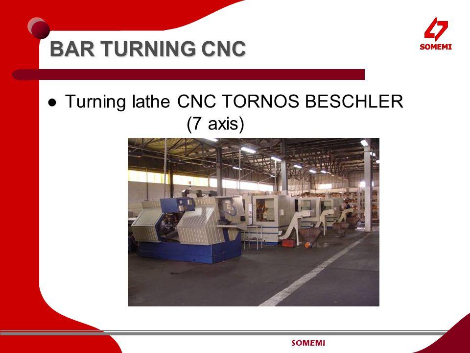 SOMEMI BAR TURNING CNC Turning lathe CNC TORNOS BESCHLER (7 axis)