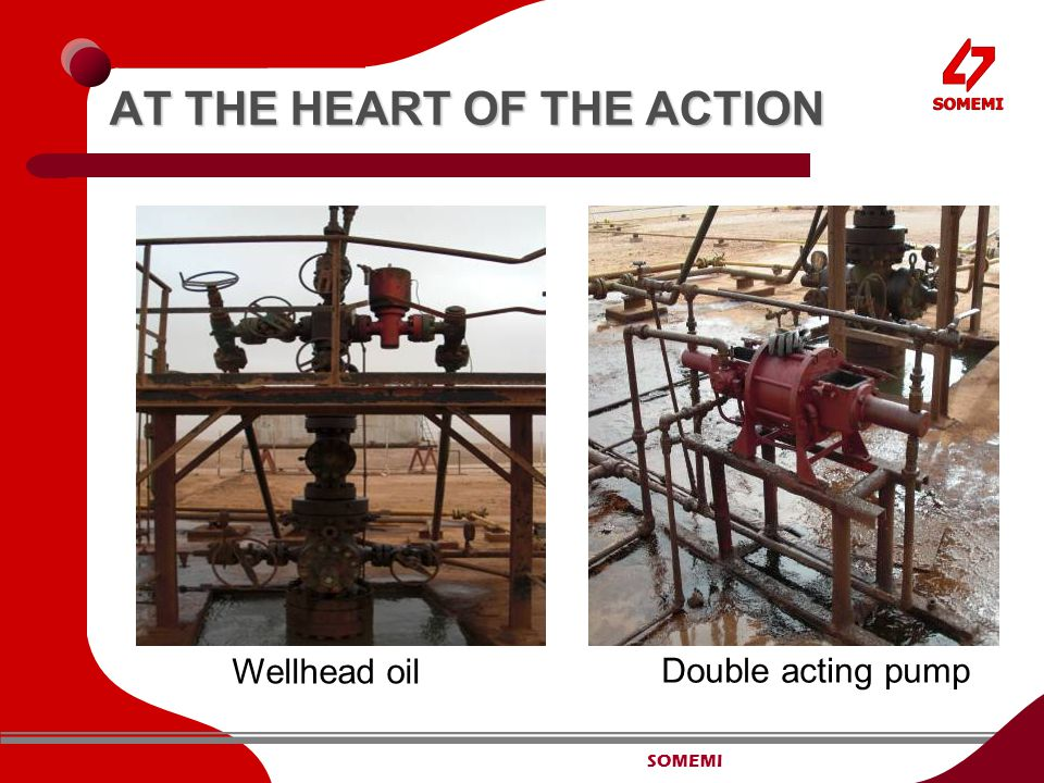 SOMEMI AT THE HEART OF THE ACTION Wellhead oil Double acting pump