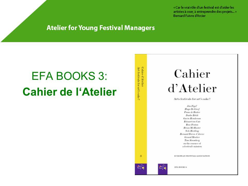 EFA BOOKS 3: Cahier de l'Atelier