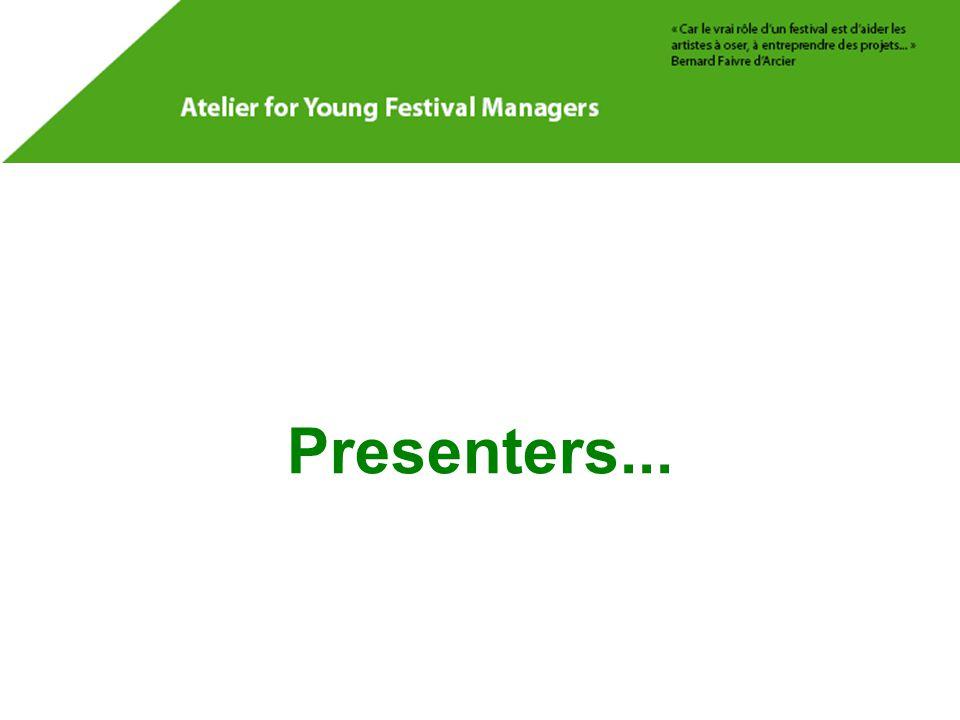 Presenters...