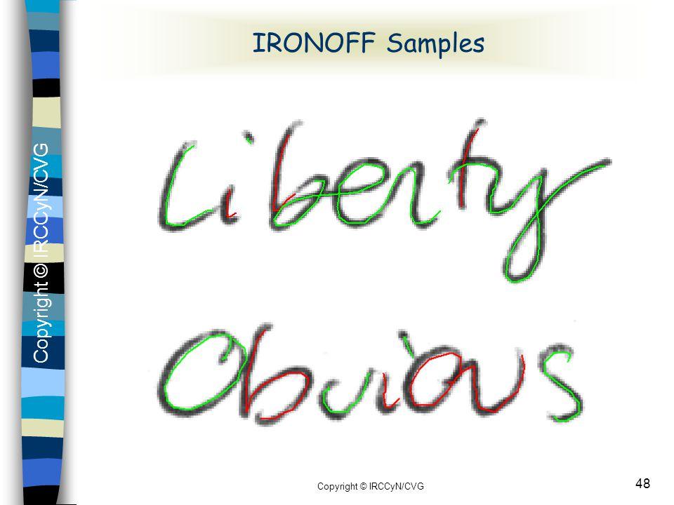 Copyright © IRCCyN/CVG 48 IRONOFF Samples