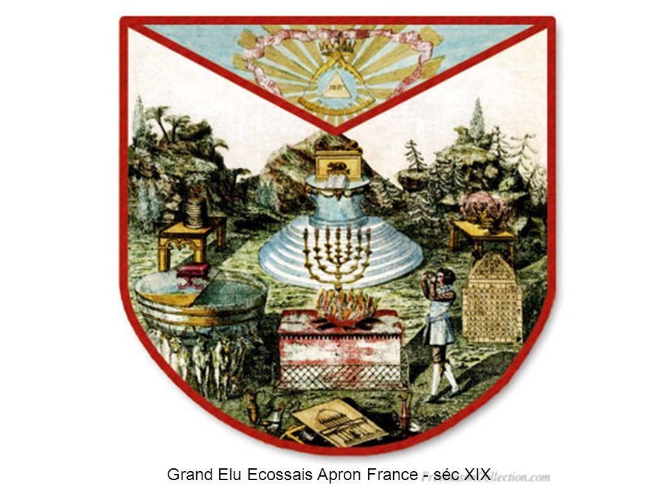 Grand Elu Ecossais lion Apron France - séc XIX
