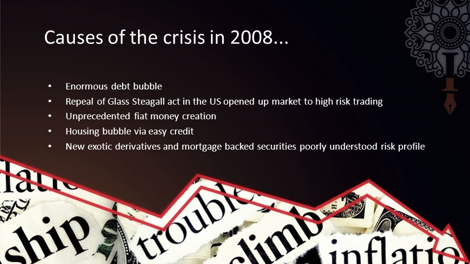 Causes of the crisis in 2008...
