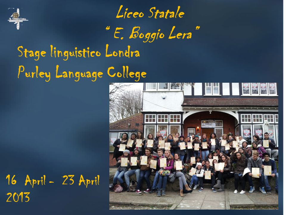 Stage linguistico Londra Purley Language College Liceo Statale E.