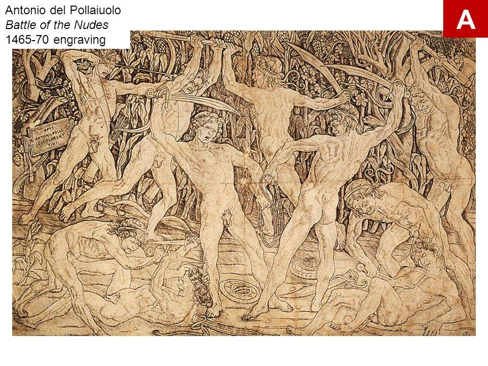 Antonio del Pollaiuolo Battle of the Nudes 1465-70 engraving A