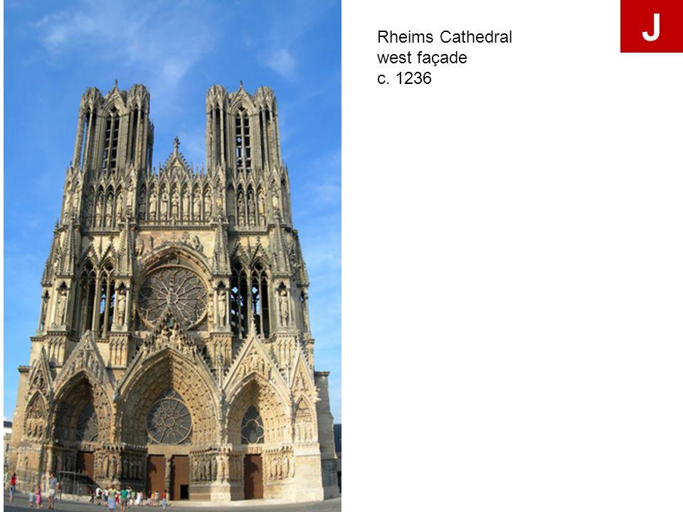 Rheims Cathedral west façade c. 1236 J