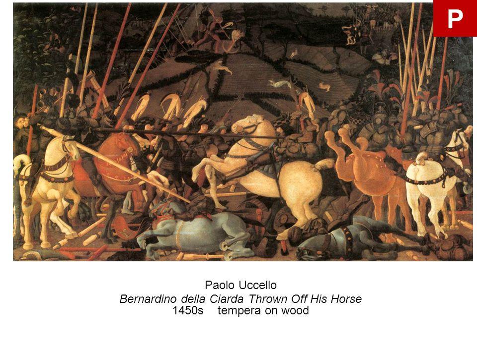 Paolo Uccello Bernardino della Ciarda Thrown Off His Horse 1450s tempera on wood P