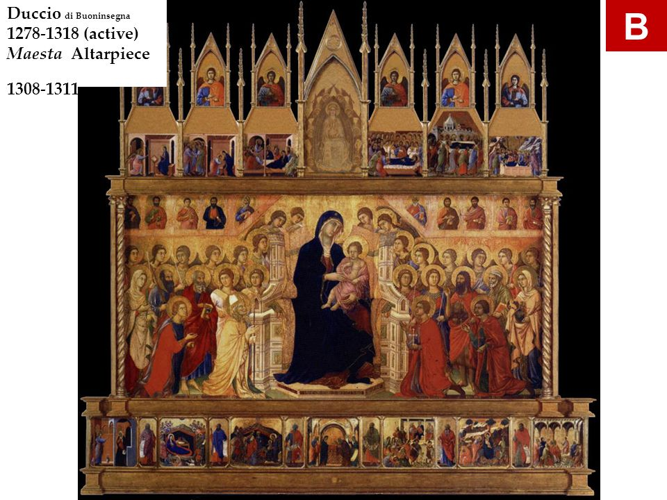 Simone Martini Annunciation 1333 tempera and gold on wood panel M