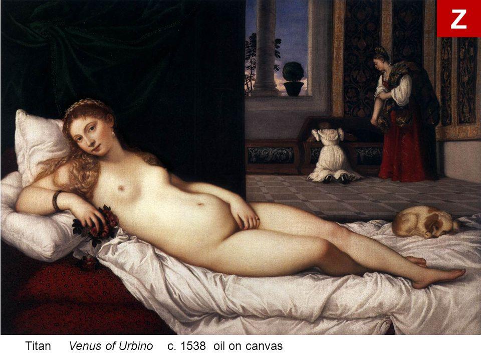 Titan Venus of Urbino c. 1538 oil on canvas Z