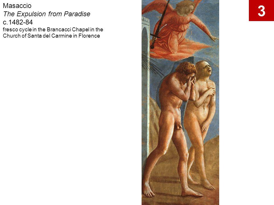 Masaccio The Expulsion from Paradise c.1482-84 fresco cycle in the Brancacci Chapel in the Church of Santa del Carmine in Florence 3
