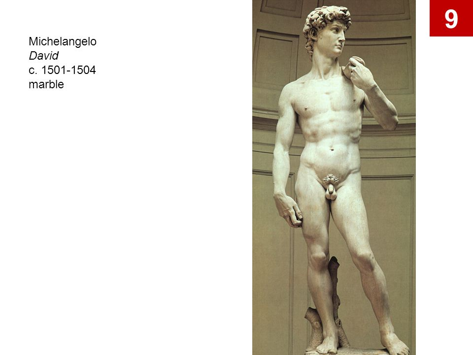 Michelangelo David c. 1501-1504 marble 9