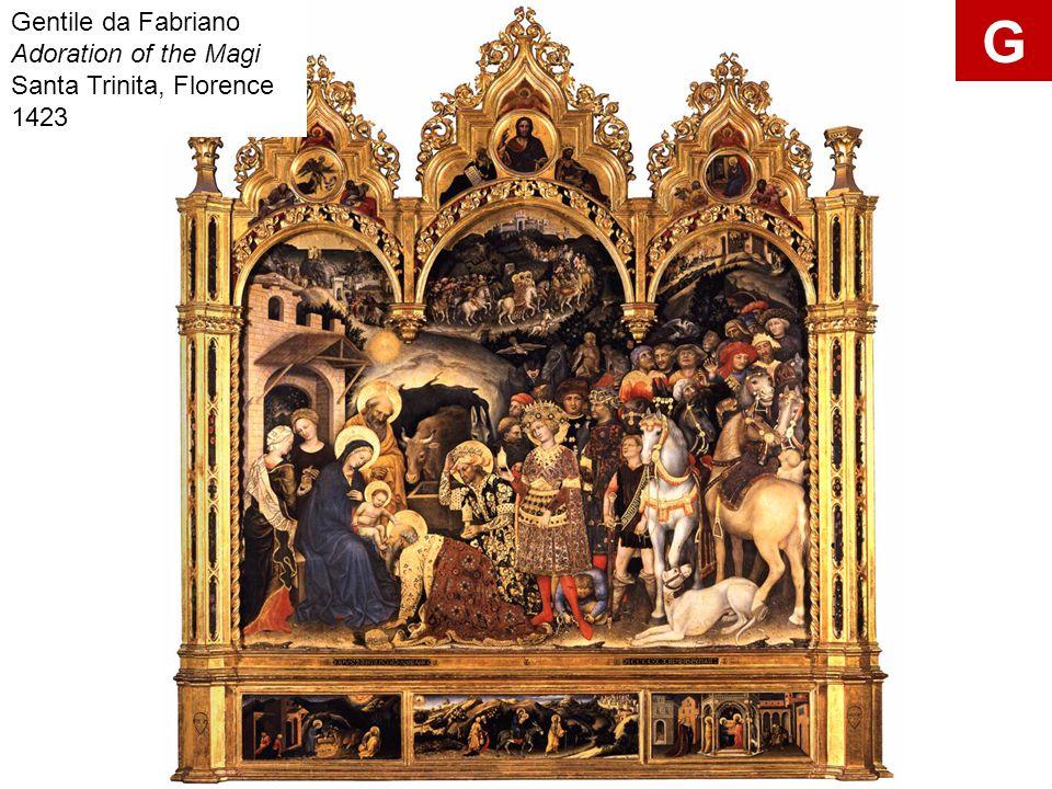 Gentile da Fabriano Adoration of the Magi Santa Trinita, Florence 1423 G
