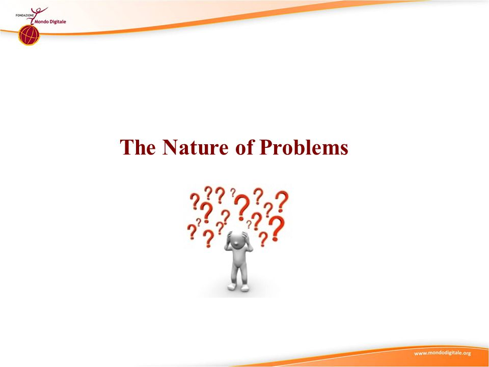 The Nature of Problems