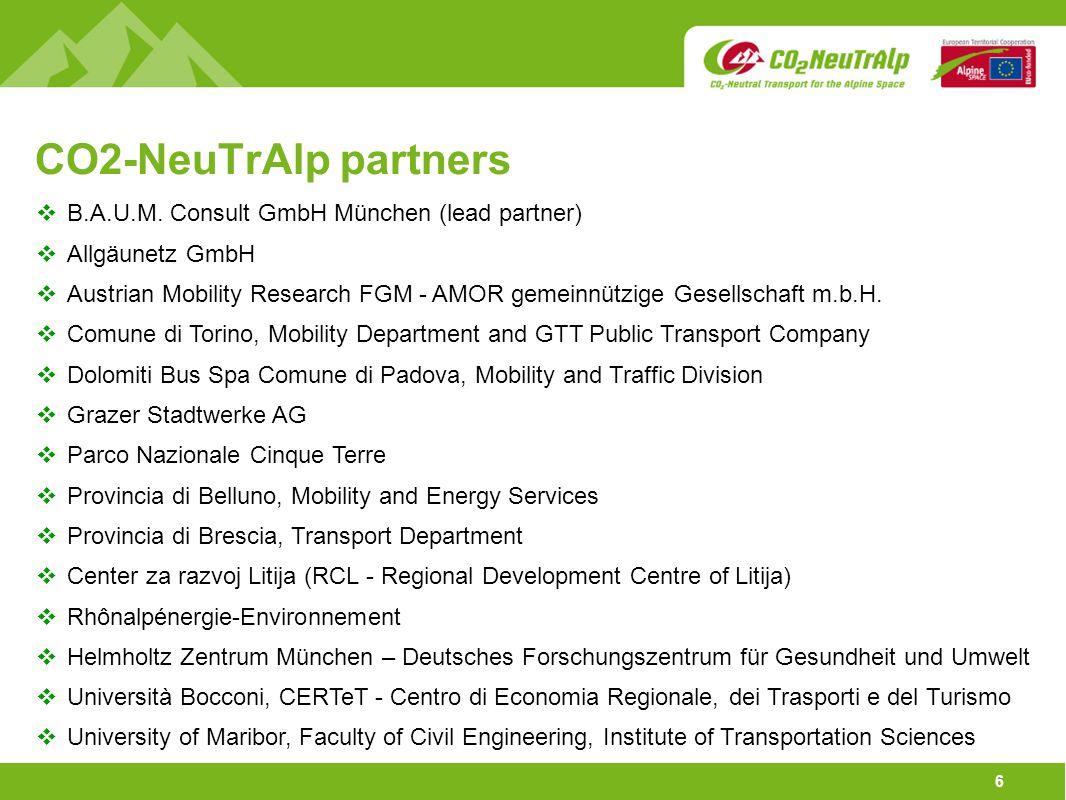 6 CO2-NeuTrAlp partners  B.A.U.M.
