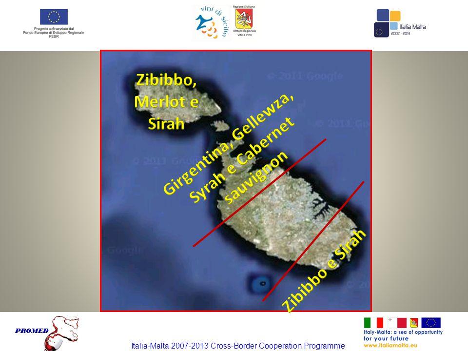 Italia-Malta 2007-2013 Cross-Border Cooperation Programme PROMED Italia-Malta 2007-2013 Cross-Border Cooperation Programme