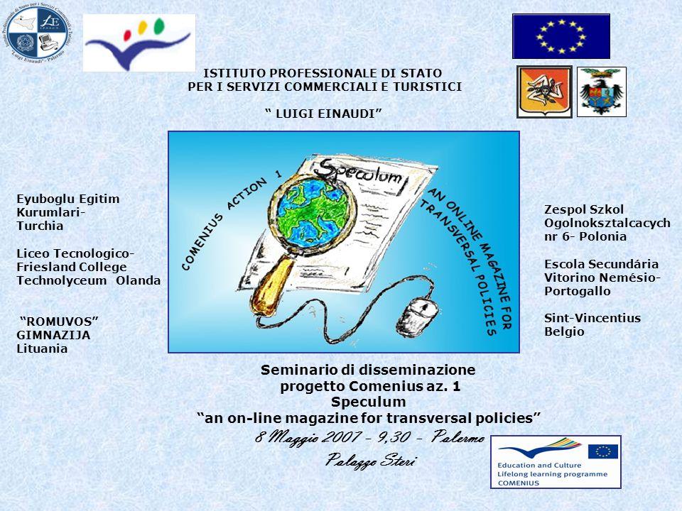 Seminario di disseminazione progetto Comenius az.