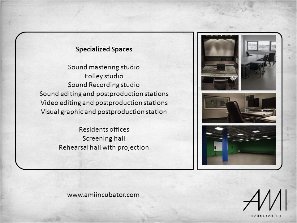 Sound mastering studio