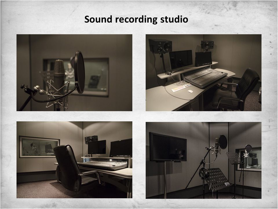 Sound editing and postproduction stations