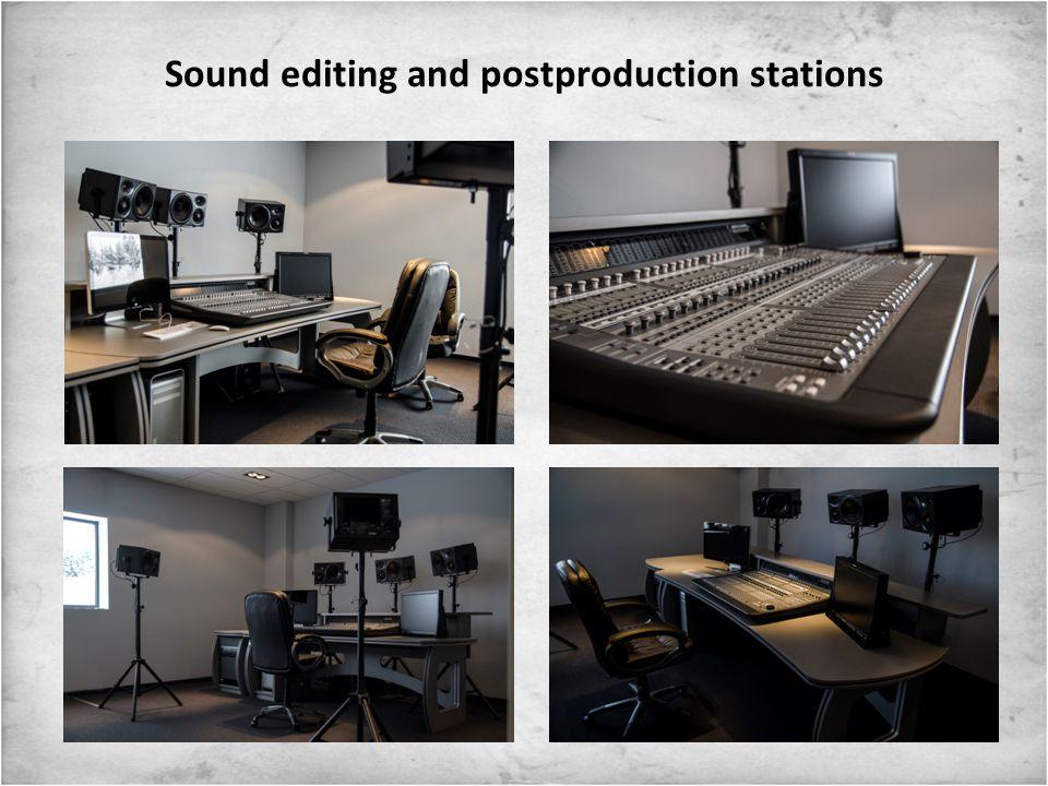 Video editing and postproduction stations