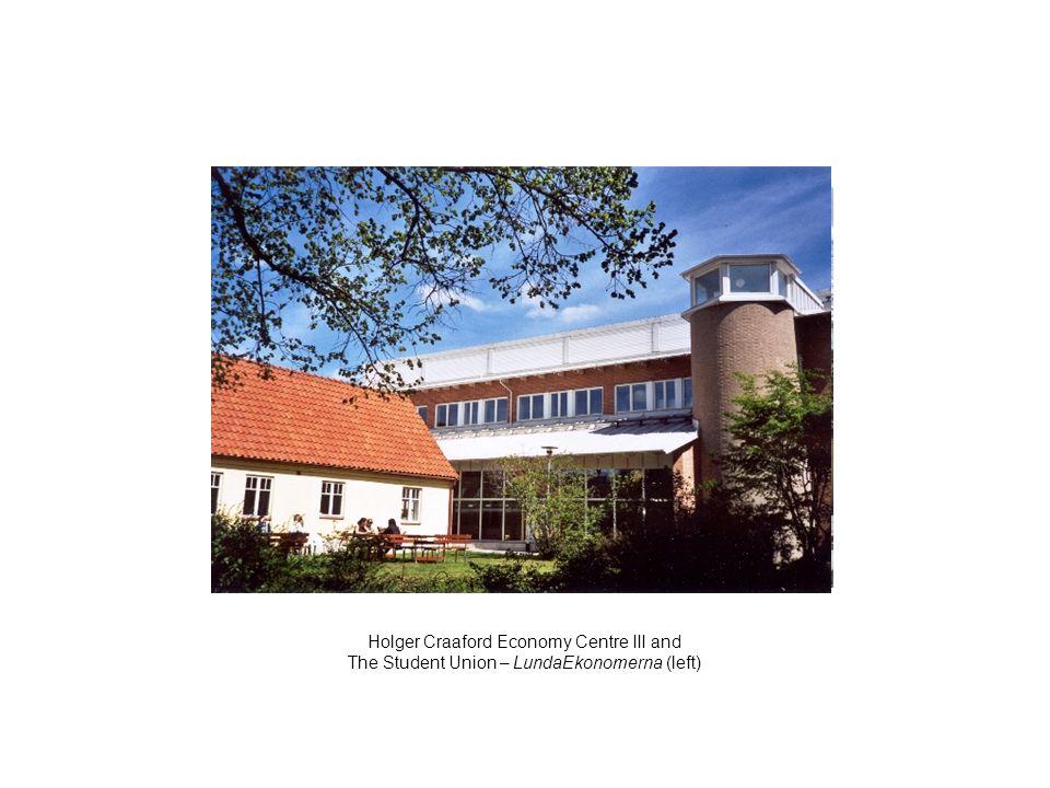 Holger Craaford Economy Centre III and The Student Union – LundaEkonomerna (left)