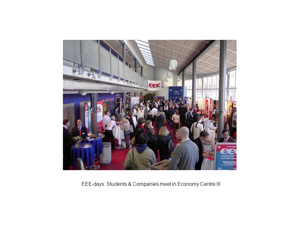 EEE-days: Students & Companies meet in Economy Centre III