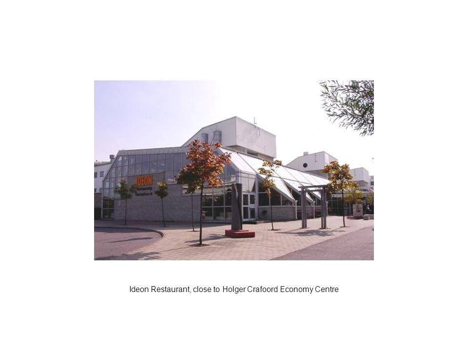 Ideon Restaurant, close to Holger Crafoord Economy Centre