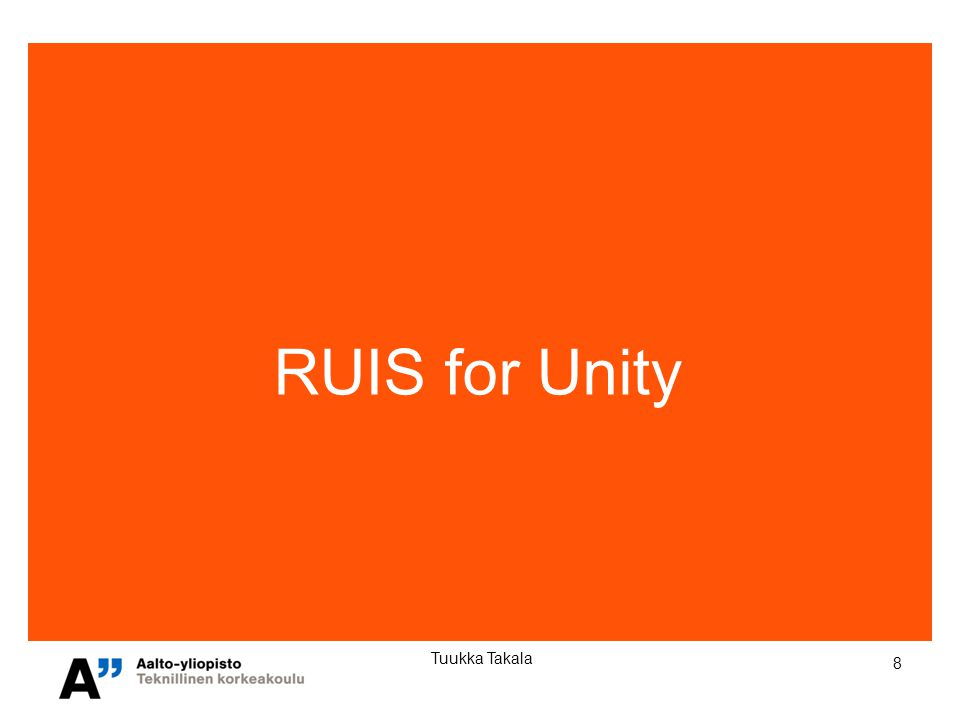 9 Tuukka Takala RUIS - Reality-based User Interface System Platform for prototyping 3D User Interfaces Core idea: Make 3DUI development easy for hobbyist developers Supports: Oculus Rift, Kinect, PlayStation Move, Razer Hydra