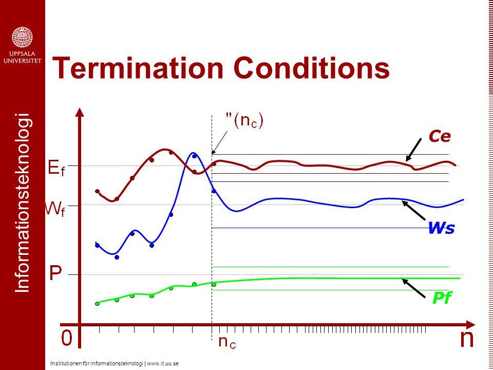 Informationsteknologi Institutionen för informationsteknologi | www.it.uu.se Termination Conditions Pf Ws Ce