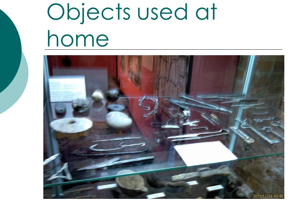 Objects used at home