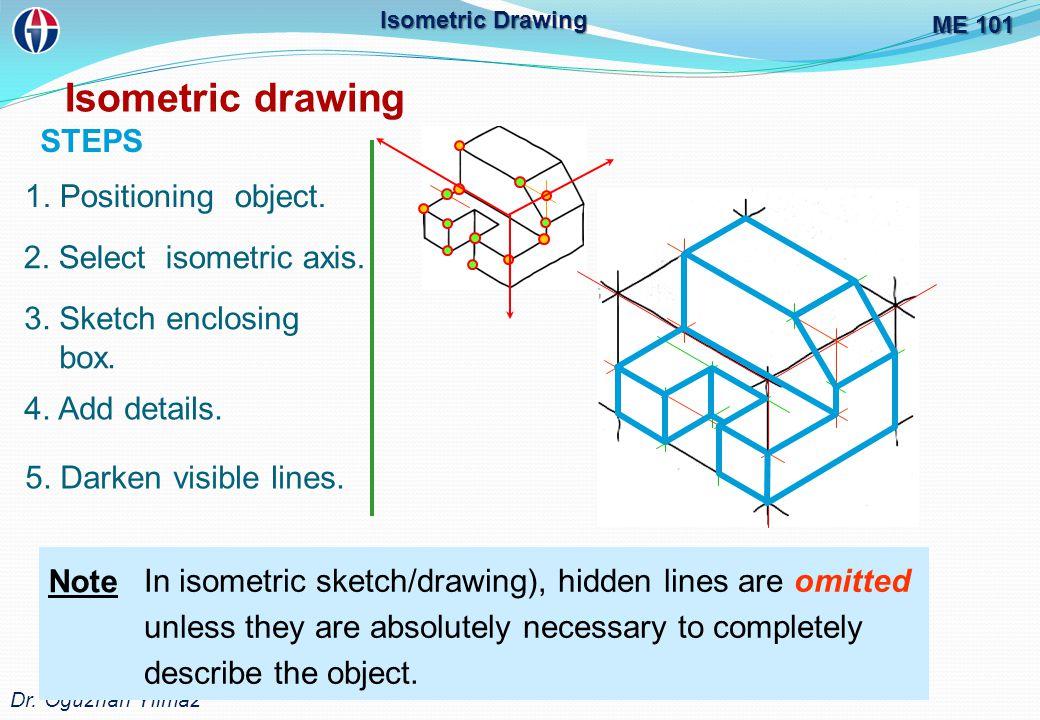 ME 101 Dr.Oğuzhan Yılmaz Isometric Drawing Isometric drawing 1.