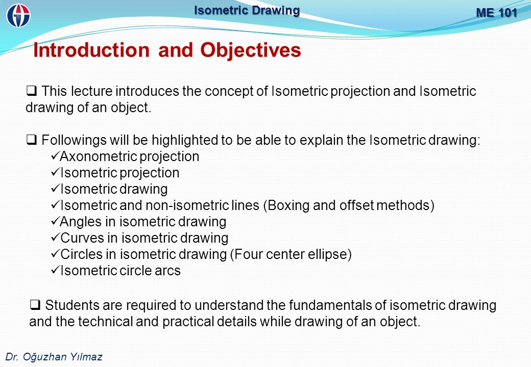 Introduction and Objectives ME 101 Dr.