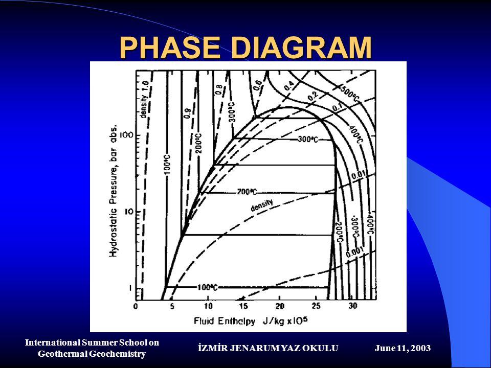 İZMİR JENARUM YAZ OKULUJune 11, 2003 International Summer School on Geothermal Geochemistry PHASE DIAGRAM
