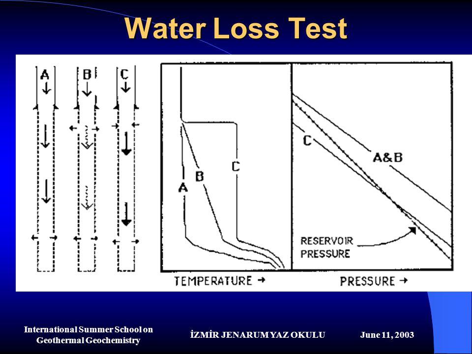 İZMİR JENARUM YAZ OKULUJune 11, 2003 International Summer School on Geothermal Geochemistry Water Loss Test