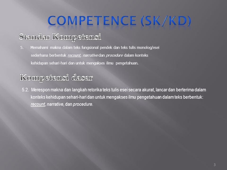Home 2 Competence (SK/KD) Competence (SK/KD) Indicator Material Practice Quiz References AboutExit