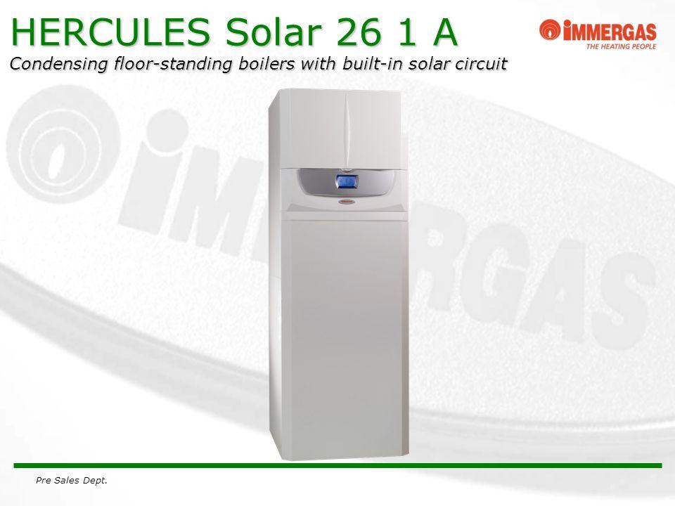 Pre Sales Dept. HERCULES Solar 26 1 A Condensing floor-standing boilers with built-in solar circuit