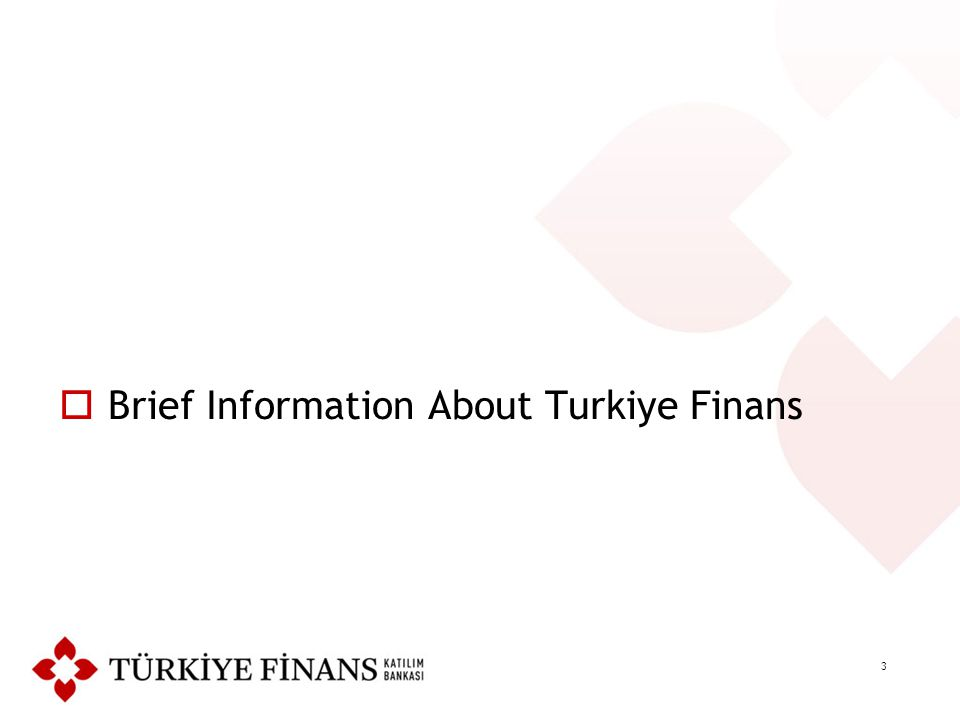 3  Brief Information About Turkiye Finans