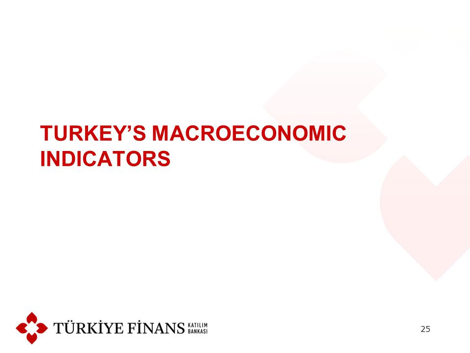 TURKEY'S MACROECONOMIC INDICATORS 25