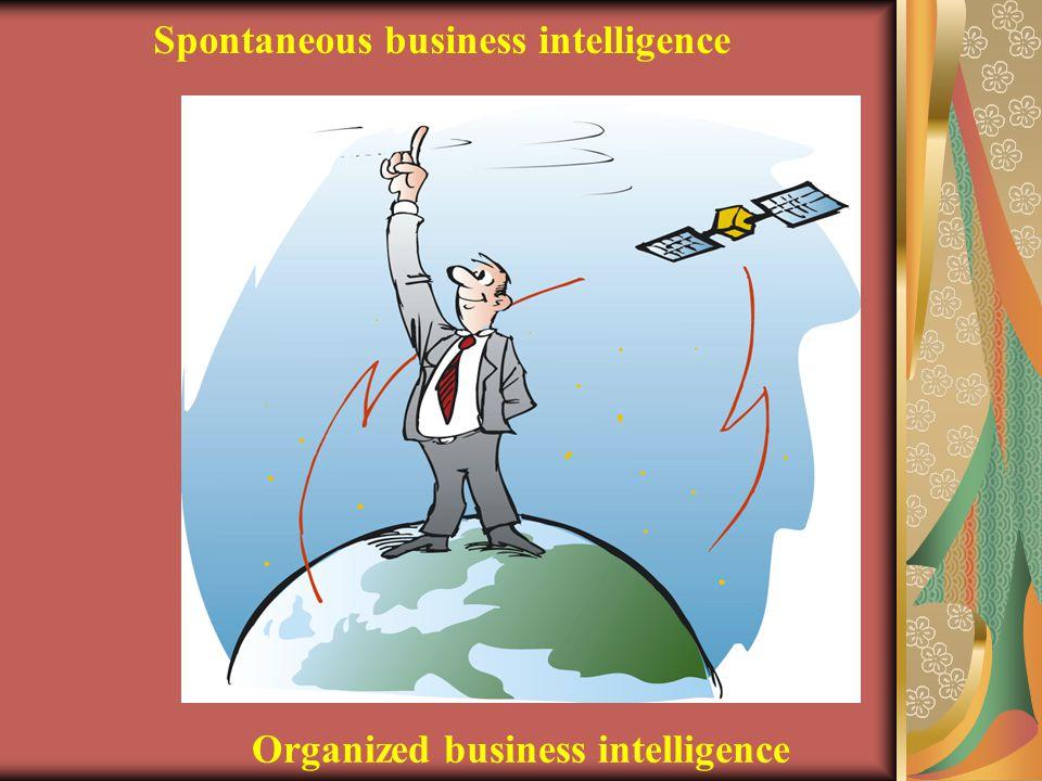 Spontaneous business intelligence Organized business intelligence
