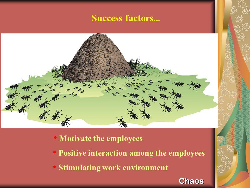 Success factors...