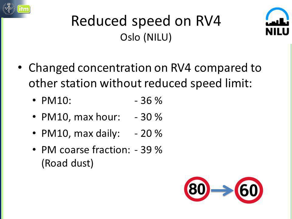 Speed dependent PM10 emission factor multiple linear regression of road side data Johansson et al., 2010 mgPM10/vkm per 10 km/h Motorways Road tunnel Motor- way