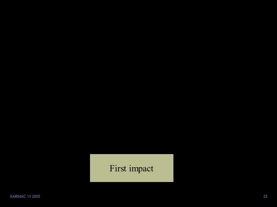 SARMAC VI 200525 First impact