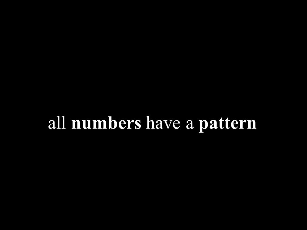 Wibisono Sukmo Wardhono, ST, MT http://wibiwardhono.lecture.ub.ac.id all numbers have a pattern
